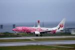 乗り物大好きライター・ヨッシーさんが、那覇空港で撮影した日本トランスオーシャン航空 737-8Q3の航空フォト(写真)
