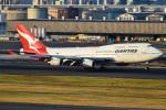 renseiさんが、羽田空港で撮影したカンタス航空 747-438の航空フォト(飛行機 写真・画像)