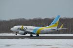 東亜国内航空さんが、釧路空港で撮影したAIR DO 737-781の航空フォト(写真)