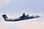 mojioさんが、成田国際空港で撮影したオーロラ DHC-8-402Q Dash 8の航空フォト(飛行機 写真・画像)