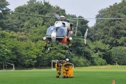 500さんが、新治運動公園で撮影した茨城県防災航空隊 BK117C-2の航空フォト(飛行機 写真・画像)