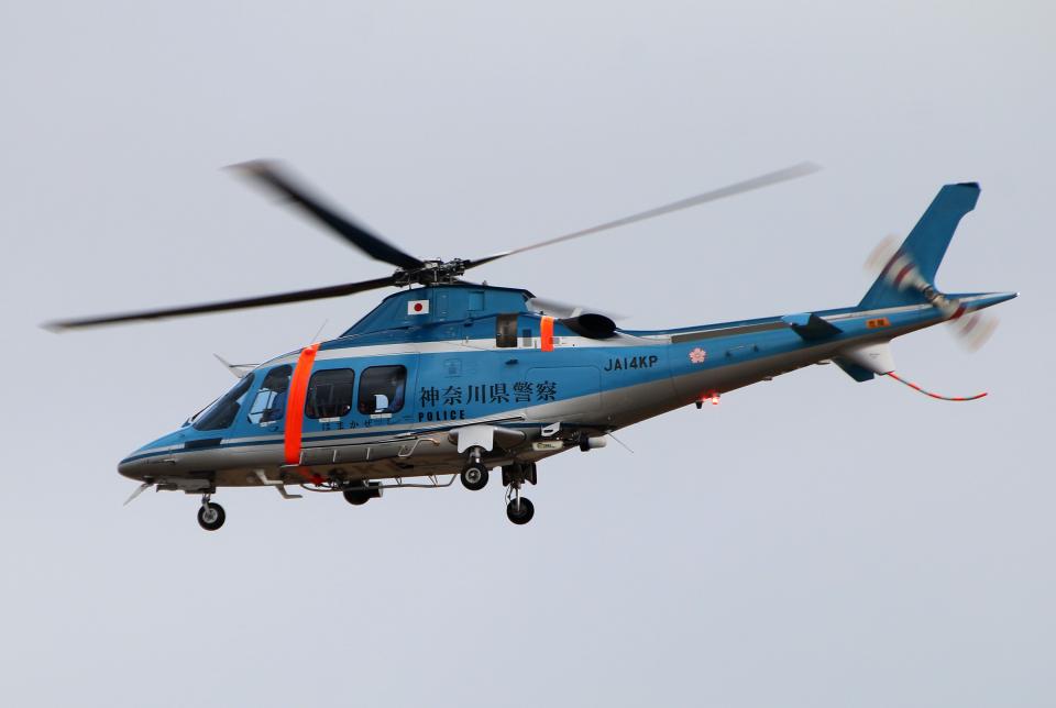 なごやんさんの神奈川県警察 AgustaWestland AW109 (JA14KP) 航空フォト
