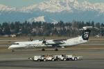 みそらさんが、シアトル タコマ国際空港で撮影したホライゾン航空 DHC-8-401Q Dash 8の航空フォト(写真)