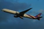 FRTさんが、関西国際空港で撮影したタイ国際航空 777-3AL/ERの航空フォト(飛行機 写真・画像)