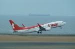 FRTさんが、中部国際空港で撮影したティーウェイ航空 737-83Nの航空フォト(飛行機 写真・画像)