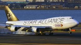 tkosadaさんが、羽田空港で撮影したタイ国際航空 747-4D7の航空フォト(写真)