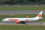 安芸あすかさんが、シンガポール・チャンギ国際空港で撮影したタイ・ライオン・エア 737-9-MAXの航空フォト(写真)