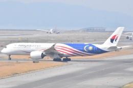木のピー乃木坂46&DAPUMP好きさんが、関西国際空港で撮影したマレーシア航空 A350-941XWBの航空フォト(写真)