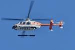 500さんが、自宅上空で撮影した新日本ヘリコプター 407の航空フォト(写真)