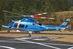 MOR1(新アカウント)さんが、奈良県ヘリポートで撮影した奈良県警察 A109E Powerの航空フォト(写真)