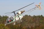 MOR1(新アカウント)さんが、奈良県ヘリポートで撮影したアカギヘリコプター SA315B Lamaの航空フォト(写真)