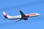 やまちゃんKさんが、福岡空港で撮影したタイ・ライオン・エア 737-9-MAXの航空フォト(写真)