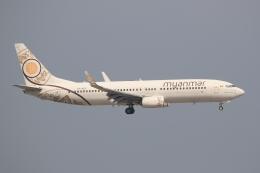 ぽんさんが、香港国際空港で撮影したミャンマー・ナショナル・エアウェイズ 737-86Nの航空フォト(写真)