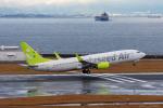 ぱん_くまさんが、中部国際空港で撮影したソラシド エア 737-81Dの航空フォト(写真)