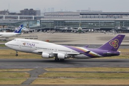 camelliaさんが、成田国際空港で撮影したタイ国際航空 747-4D7の航空フォト(写真)