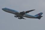 たっしーさんが、香港国際空港で撮影した大韓航空 747-8B5の航空フォト(写真)