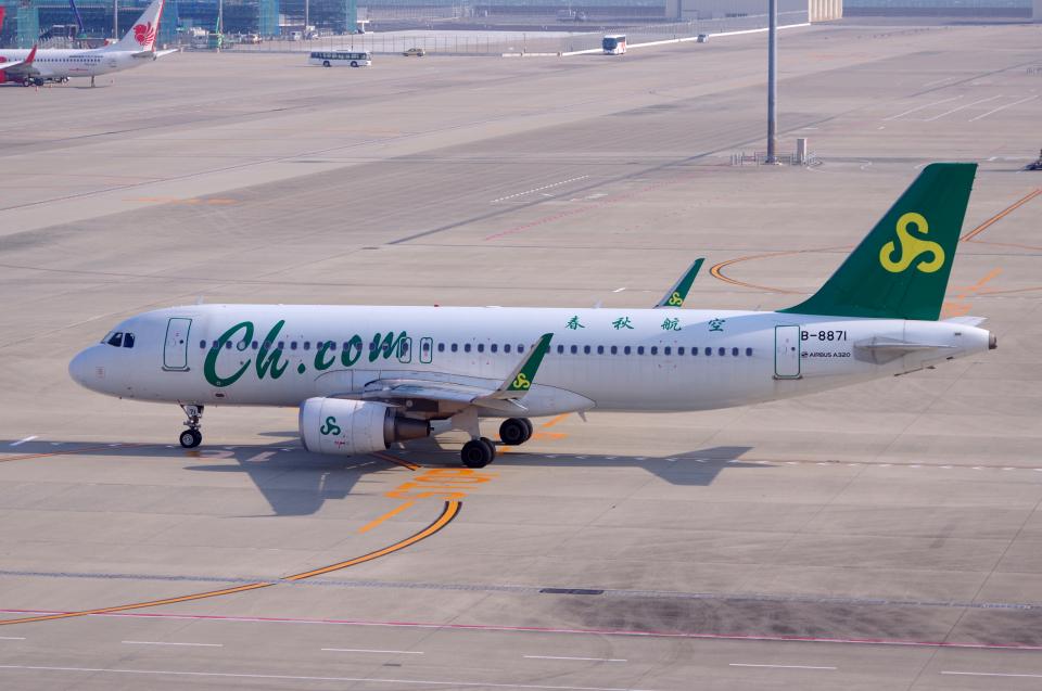 yabyanさんの春秋航空 Airbus A320 (B-8871) 航空フォト