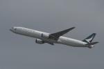 たっしーさんが、香港国際空港で撮影したキャセイパシフィック航空 777-367の航空フォト(写真)