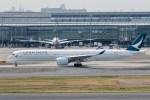 たかしさんが、羽田空港で撮影したキャセイパシフィック航空 A350-1041の航空フォト(写真)