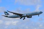やつはしさんが、成田国際空港で撮影したキャセイパシフィック航空 A330-343Xの航空フォト(飛行機 写真・画像)