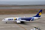 we love kixさんが、神戸空港で撮影したスカイマーク 737-81Dの航空フォト(写真)