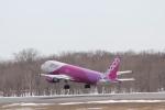 sakanayahiroさんが、釧路空港で撮影したピーチ A320-214の航空フォト(写真)