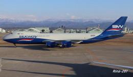 RINA-281さんが、小松空港で撮影したシルクウェイ・ウェスト・エアラインズ 747-83QFの航空フォト(写真)