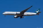 ぱん_くまさんが、成田国際空港で撮影したキャセイパシフィック航空 A350-941XWBの航空フォト(写真)