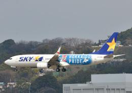 じーく。さんが、福岡空港で撮影したスカイマーク 737-86Nの航空フォト(写真)