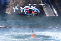 SAMBAR-2463さんが、栃木県足利市で撮影した茨城県防災航空隊 BK117C-2の航空フォト(飛行機 写真・画像)