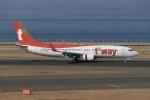 SIさんが、中部国際空港で撮影したティーウェイ航空 737-83Nの航空フォト(写真)