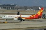 たっしーさんが、北京首都国際空港で撮影した中国新華航空 737-84Pの航空フォト(飛行機 写真・画像)