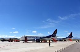 SKY TEAM B-6053さんが、フアナ・アズルデュイ・デ・パディリャ国際空港で撮影したボリビアーナ航空 737-36Nの航空フォト(飛行機 写真・画像)