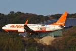 あしゅーさんが、福岡空港で撮影したチェジュ航空 737-8ASの航空フォト(飛行機 写真・画像)