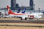kaeru6006さんが、成田国際空港で撮影したティーウェイ航空 737-8Q8の航空フォト(写真)