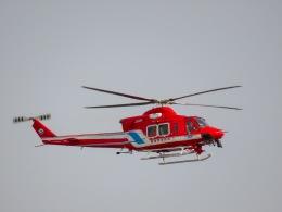 さんぜんさんが、調布飛行場で撮影した静岡市消防航空隊 412EPの航空フォト(写真)