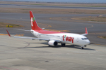 yabyanさんが、中部国際空港で撮影したティーウェイ航空 737-83Nの航空フォト(写真)