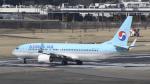 パンダさんが、成田国際空港で撮影した大韓航空 737-8Q8の航空フォト(写真)