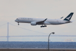 奈良ン児さんが、関西国際空港で撮影したキャセイパシフィック航空 A350-941XWBの航空フォト(写真)