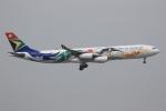 ぽんさんが、香港国際空港で撮影した南アフリカ航空 A340-313Xの航空フォト(写真)