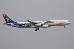 ぽんさんが、香港国際空港で撮影した南アフリカ航空 A340-313Xの航空フォト(飛行機 写真・画像)