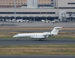 ハム太郎。さんが、羽田空港で撮影したウェルズ・ファーゴ・バンク・ノースウェスト G500/G550 (G-V)の航空フォト(写真)