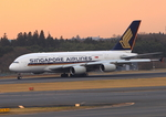 ふじいあきらさんが、成田国際空港で撮影したシンガポール航空 A380-841の航空フォト(飛行機 写真・画像)