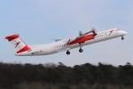 BTYUTAさんが、フランクフルト国際空港で撮影したオーストリア航空 DHC-8-402Q Dash 8の航空フォト(飛行機 写真・画像)