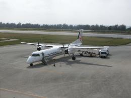 ヒロリンさんが、南大東空港で撮影した琉球エアーコミューター DHC-8-402Q Dash 8 Combiの航空フォト(飛行機 写真・画像)