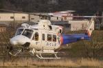 筑波のヘリ撮りさんが、足利本町緑地で撮影した福島県消防防災航空隊 412EPの航空フォト(写真)