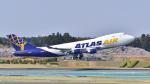 パンダさんが、成田国際空港で撮影したアトラス航空 747-412F/SCDの航空フォト(写真)