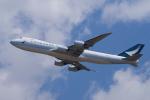 yabyanさんが、成田国際空港で撮影したキャセイパシフィック航空 747-867F/SCDの航空フォト(飛行機 写真・画像)