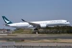 さくらの城南山。さんが、成田国際空港で撮影したキャセイパシフィック航空 A350-1041の航空フォト(飛行機 写真・画像)