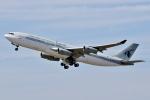 SKY TEAM B-6053さんが、関西国際空港で撮影したカタールアミリフライト A340-211の航空フォト(写真)